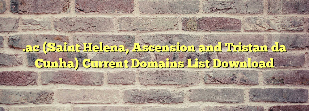 .ac  Registered Domain Names List